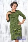Платье 2205 т.синий/горох