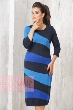 Платье 2242 т.синий/электрик/гжель