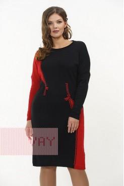 Платье 2261 черный/красный