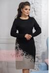 Платье 2300 черный/св.верба