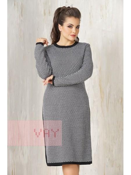 Платье 2306 черный/белый