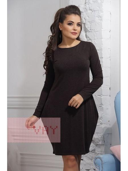 Платье 3236 т.коричневый