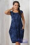 Платье 3282 варенка синий