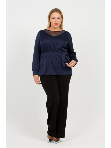 Блузка Джинна (синий темный)