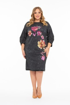 Платье Краса (темно серый)
