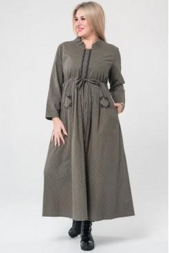 Платье 1030 темно зеленый