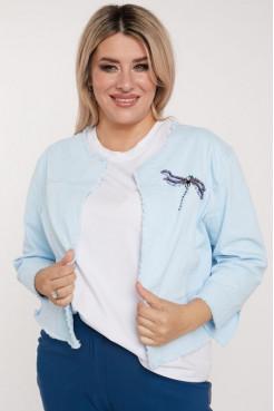 Жакет 1102 голубой