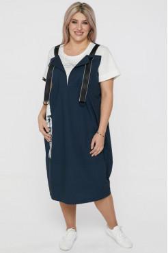 Платье 1108 темно синий