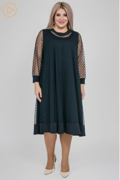 Платье 1157 темно синий