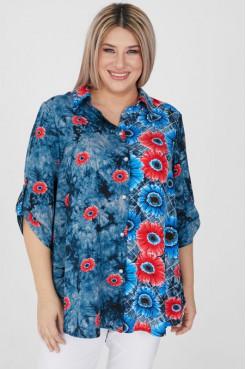 Рубашка 1195 синий