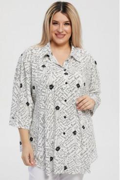 Рубашка 1218 белый/черный