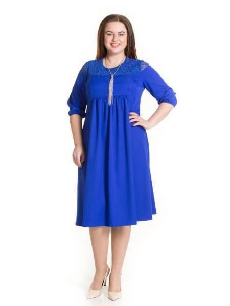 Платье 671 синий