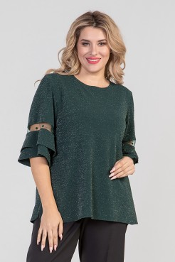 Блузка 689 (зеленый)