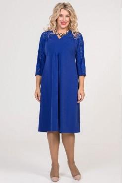 Платье 828 синий