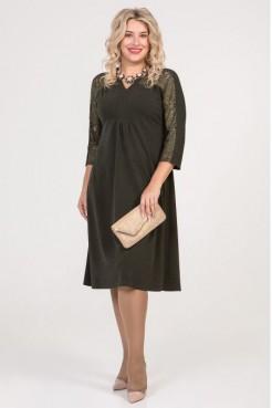 Платье 828 темно зеленый