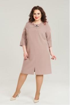 Платье 847 (коричневый)