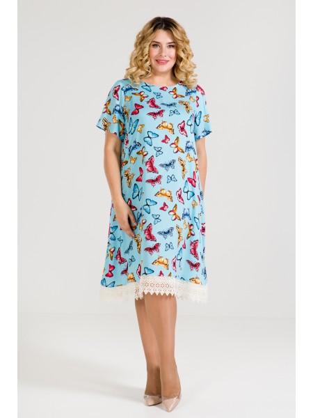Платье 849 (голубой)