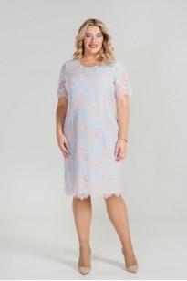 Платье 866 (голубой)