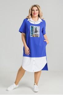 Платье 867 (синий)