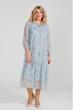 Платье 874 (голубой)