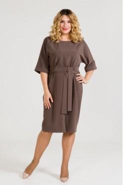 Платье 938 коричневый