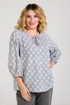 Блузка 940 серый