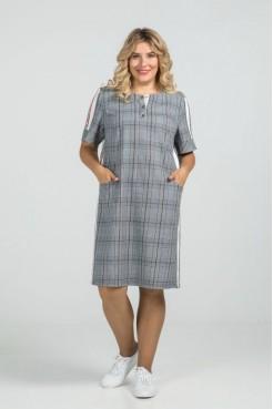 Платье 950 серый