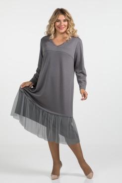 Платье 962 (серый)