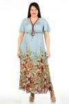 Платье 240 (купон на голубом)