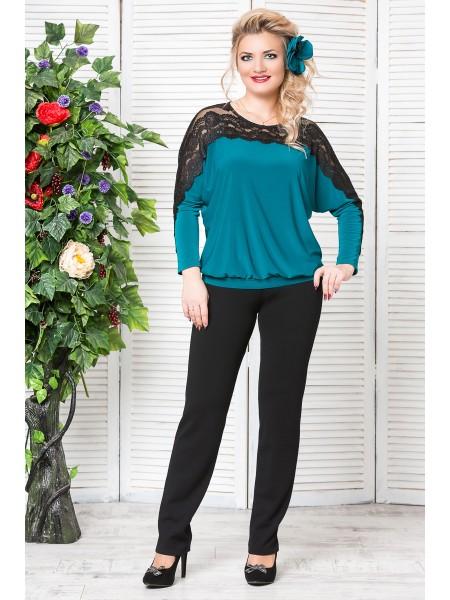 Блузка Кружево (зеленый)
