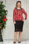 Блузка Шанель (бордо)