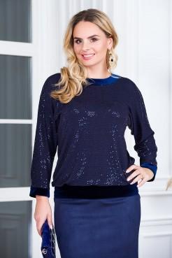 Блузка Сияние (синий)