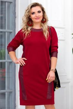 Платье Алина (бордо)