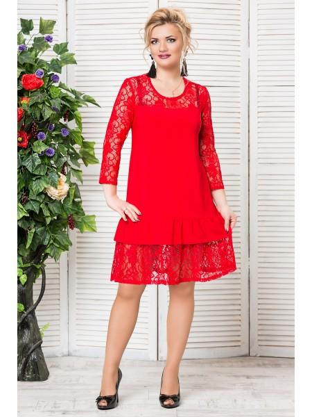 Платье Алиса (красный)
