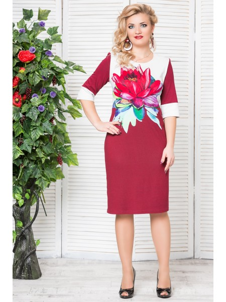 Платье Цветок (бордо)