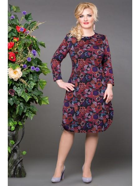 Платье Дарья (цветы сирень)