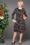 Платье Дарья (цветы зеленый)