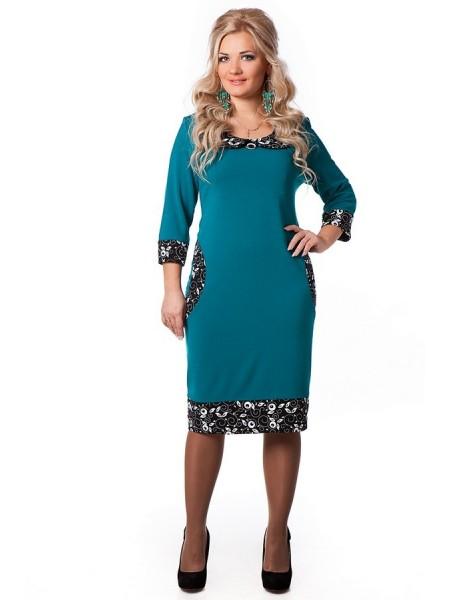 Платье Дольче Вита (бирюза)