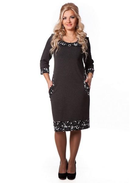 Платье Дольче Вита (серый)