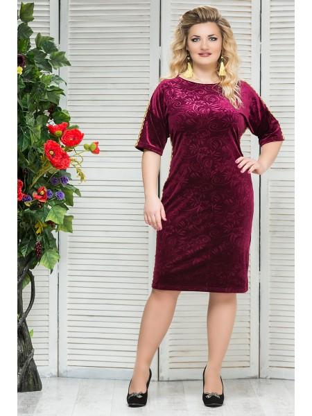 Платье Каролина (бордо)