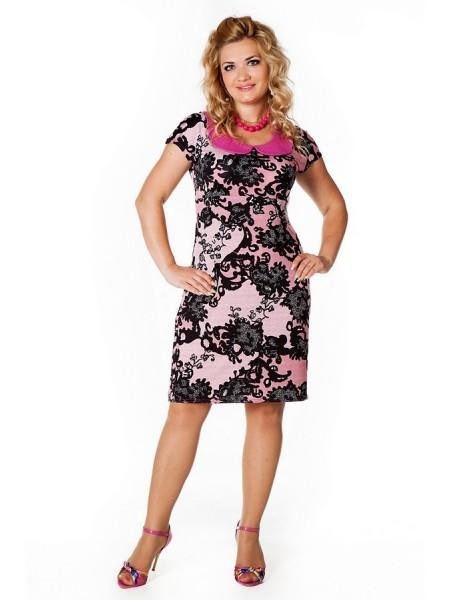 Платье Коктейльное (розовый)