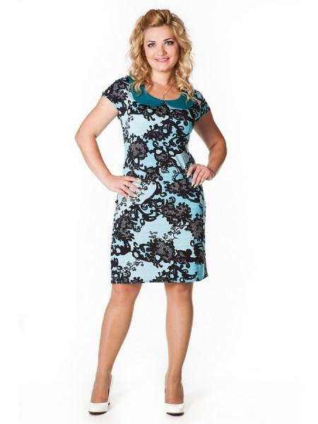 Платье Коктейльное (голубой)