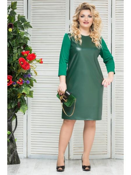 Платье Кожа (зеленый)