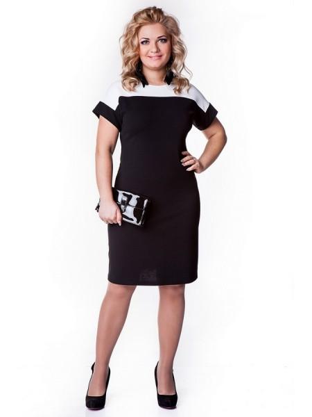 Платье Лаура (черно-белый)