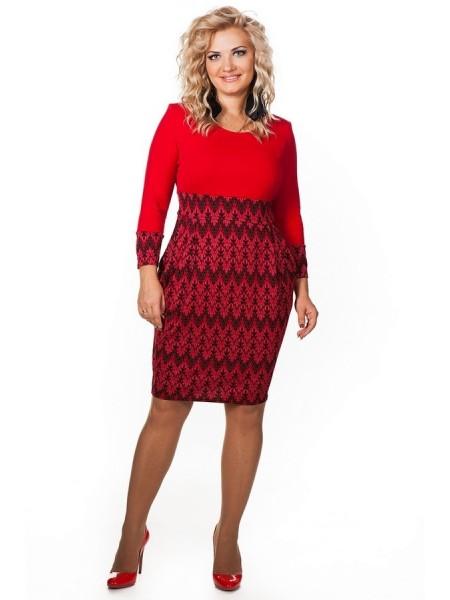 Платье Миранда (красный)