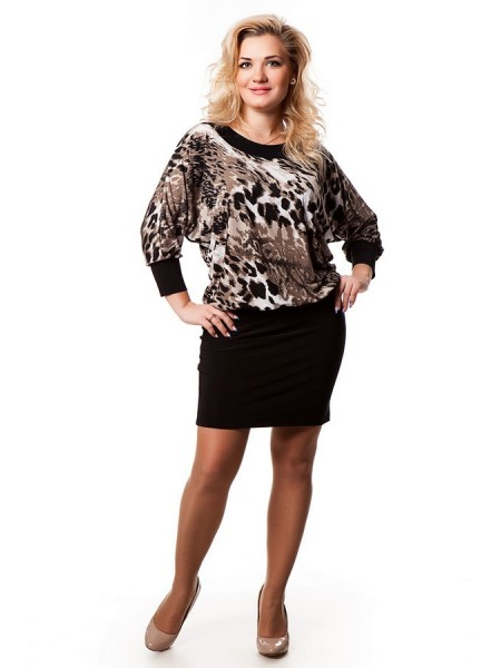 Платье Сапфир (леопард)