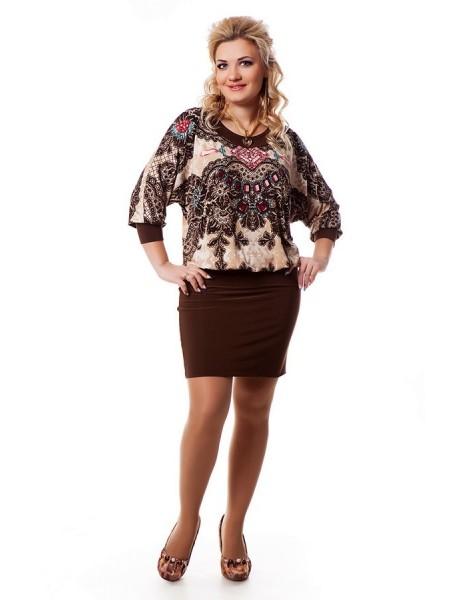 Платье Сапфир (шоколад)