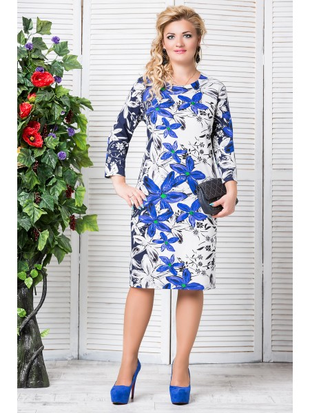 Платье Стефани (синий)