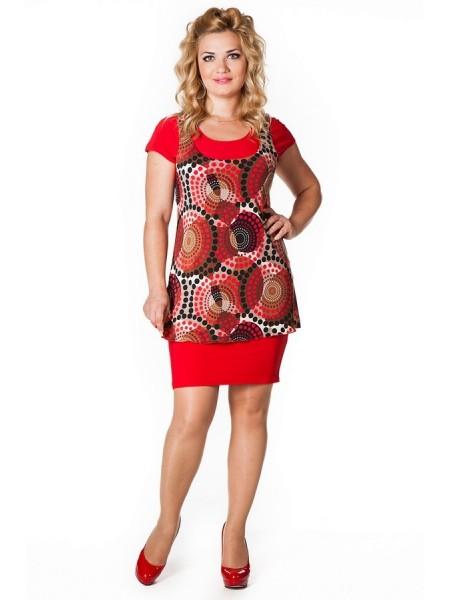 Платье Земфира (красный)