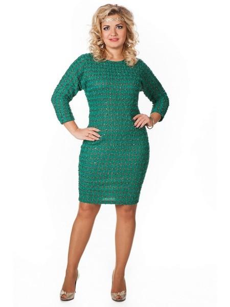 Платье Золотая рыбка (зеленый)